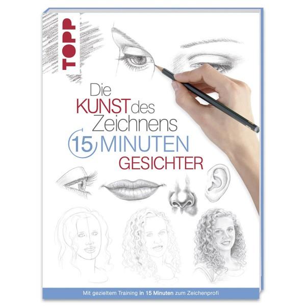 Buch - Die Kunst des Zeichnens: 15 Minuten - Gesichter 96 Seiten, 17x22cm, Softcover