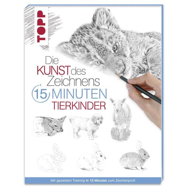 Buch - Die Kunst des Zeichnens: 15 Minuten - Tierkinder 96 Seiten, 16,9x22cm, Softcover