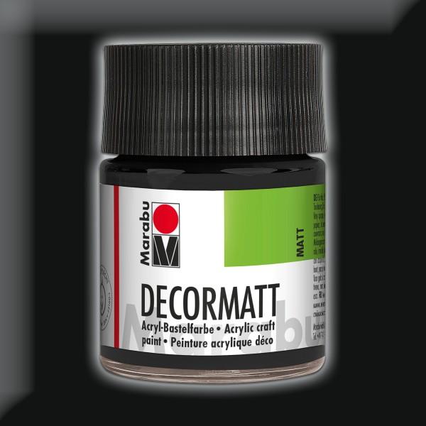 Decorlack Acryl matt 50ml schwarz