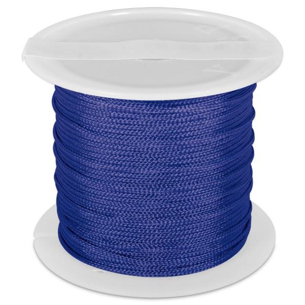 Knüpfgarn glänzend 1mm 5m blau 100% Polyester