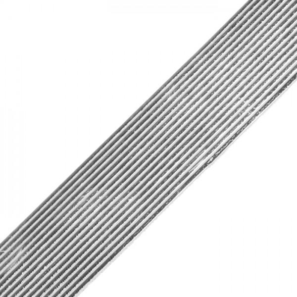 Verzierwachsstreifen 1mm 20cm 13 St. silberf. Flachstreifen
