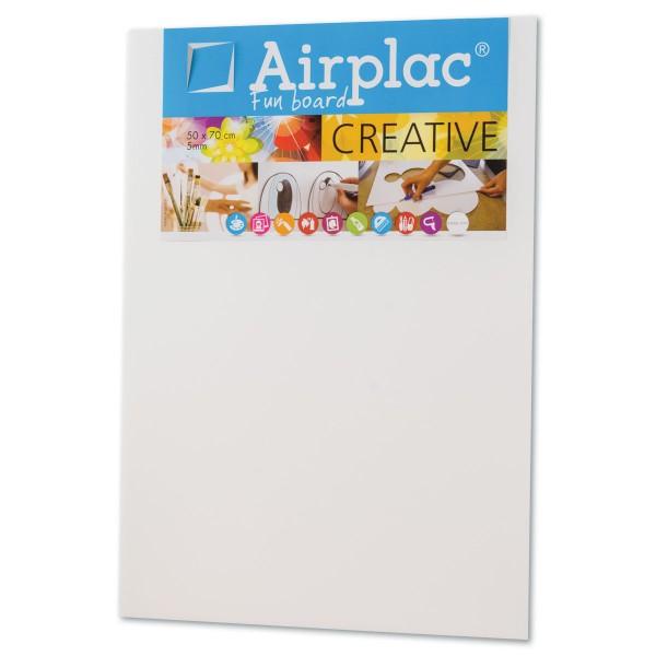 Airplac Foam Board 50x70x0,5cm weiß Leichtschaumplatte aus Polyester, beidseitig kaschiert
