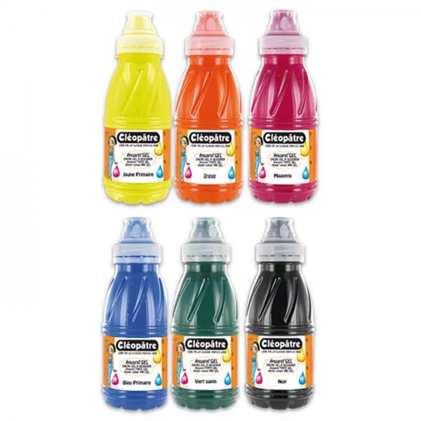 Aquarellgel Maltinte 6 Farben à 250ml