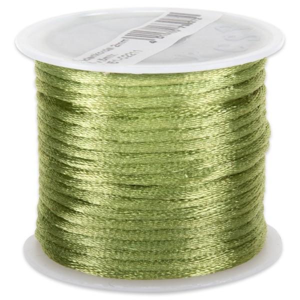 Seidenschnur glänzend 2mm 5m oliv 100% Polyester