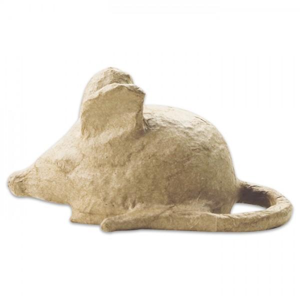 Maus Pappmaché 11x6,5x6cm Größe XS, von Décopatch