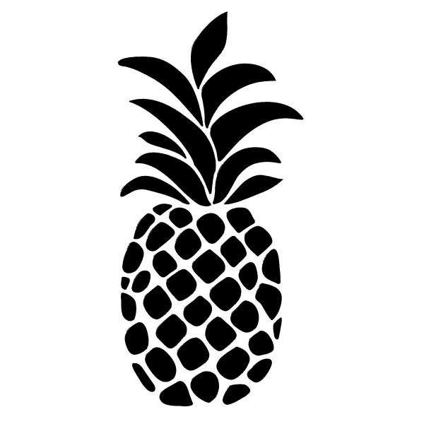 Universal-Schablone DIN A4 Ananas Kunststoff