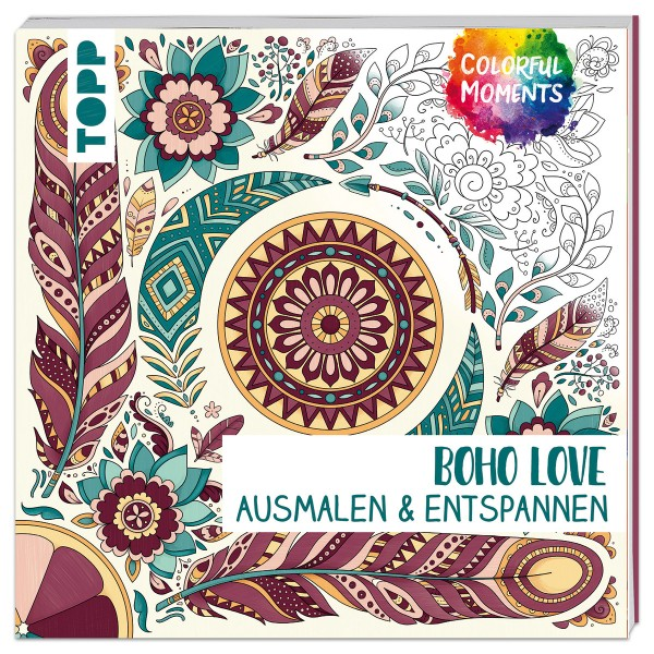 Buch - Colorful Moments - Boho Love 96 Seiten, 19x19cm, Softcover