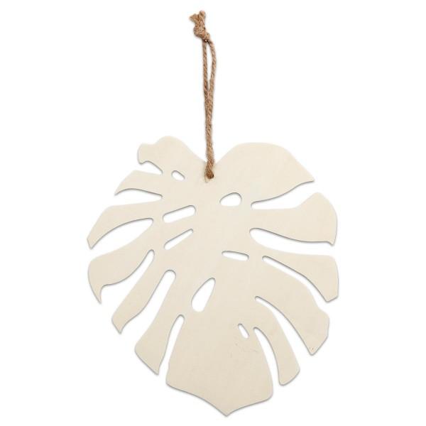 Monstera-Blatt Sperrholz 20x19x0,3cm natur