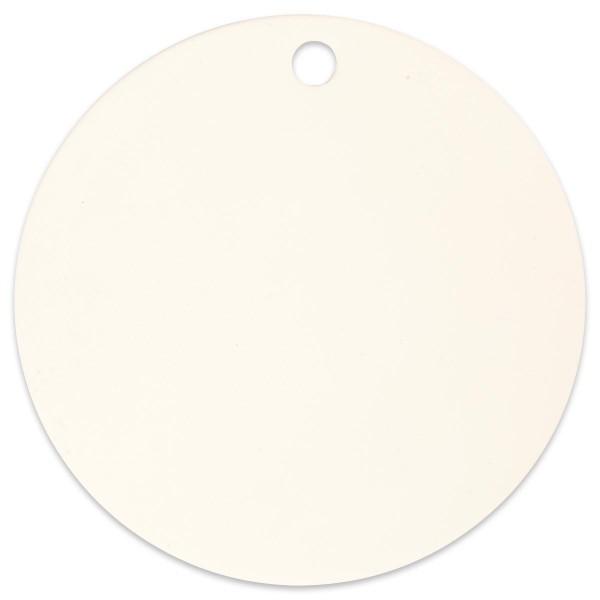 Scheibe Terrakotta Ø 15cm weiß