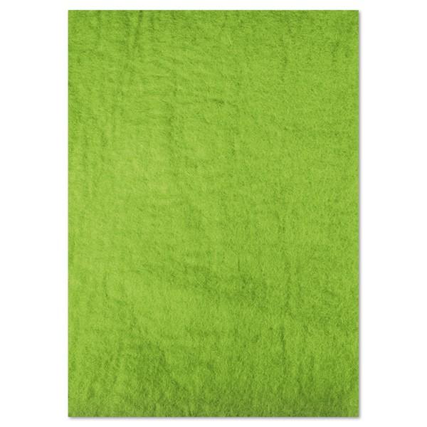 Naturfilzplatte ca. 5mm 50x70cm limone 100% Wolle