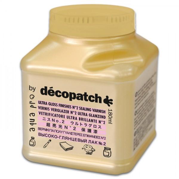 Aquapro Décopatch-Klarlack 180ml satinierend für Découpagetechnik, von Décopatch