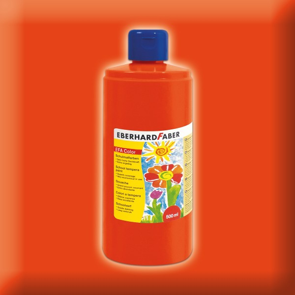 Color-Schulmalfarbe 500ml kadmiumorange