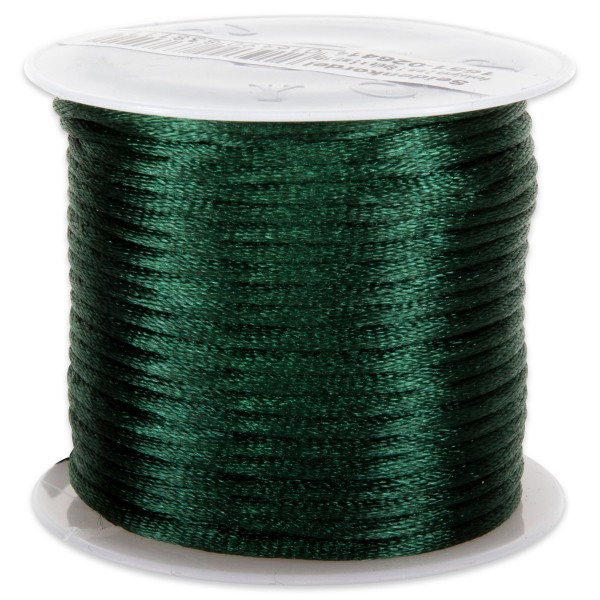 Seidenschnur glänzend 2mm 5m dunkelgrün 100% Polyester
