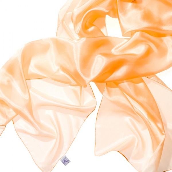 Schal Seide Pongé 05 180x45cm apricot 100% Seide