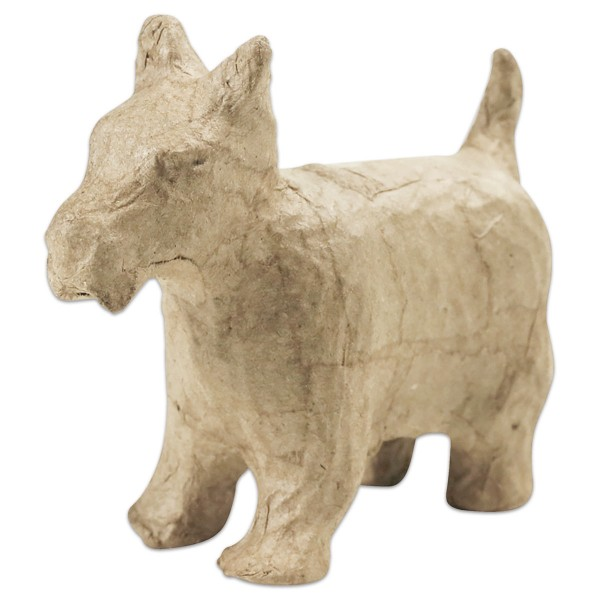 Hund Pappmaché 4,5x14,5x9,5cm Größe XS, von Décopatch
