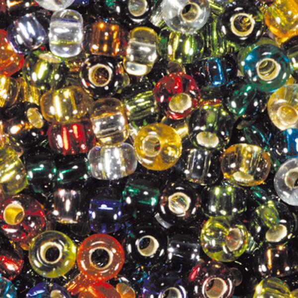 Miyukibeads Silbereinzug Glas 2,2mm 12g mix Lochgr. ca. 0,9mm