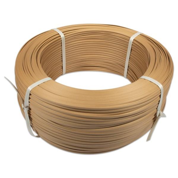 Saleen-Flechtschiene 6mm 600m beige Kunststoff