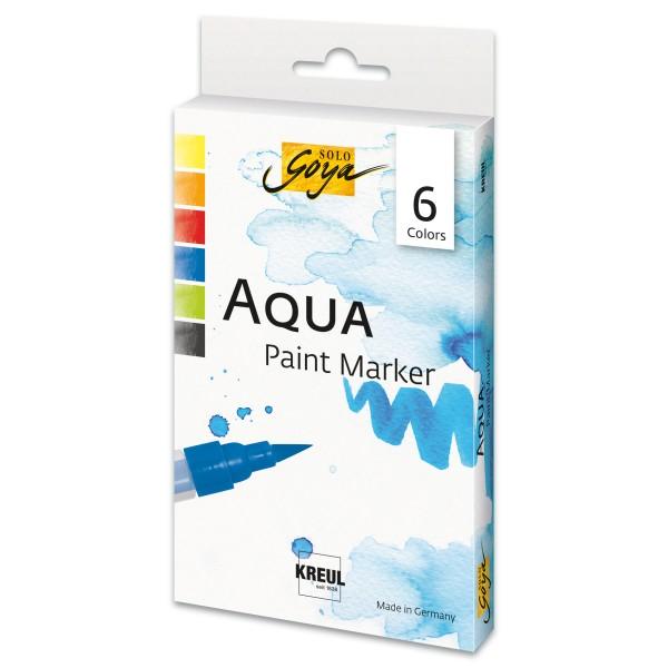 SOLO GOYA Paint Marker-Set 6 St. Normalfarben mit Pinselspitze