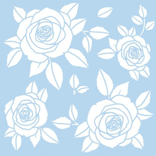 Schablone Roses 33x33cm