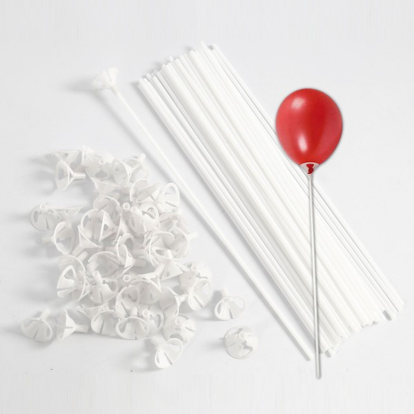 Luftballonstäbe Kunststoff Ø 37mm 40cm 10 St. weiß