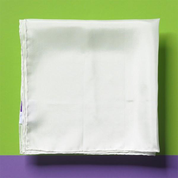 Nickituch Seide Pongé 08 55x55cm naturweiß 100% Seide