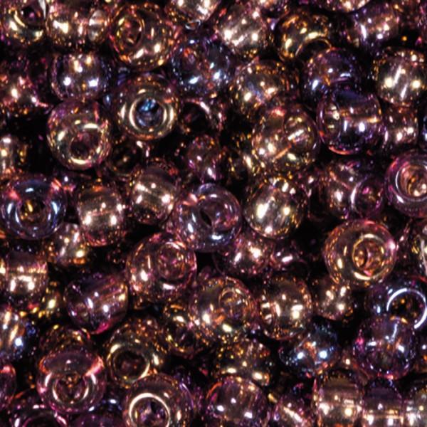 Rocailles transparent AB 2,6mm 17g lila Glas, Lochgr. ca. 0,9mm
