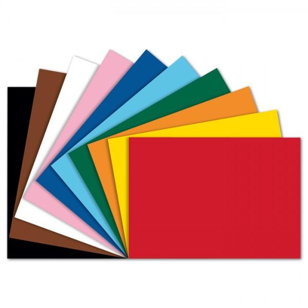 Tonpapier 130g/m² DIN A4 100 Bl./10 Farben