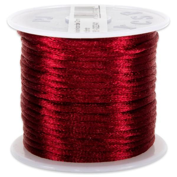 Seidenschnur glänzend 2mm 5m rot 100% Polyester