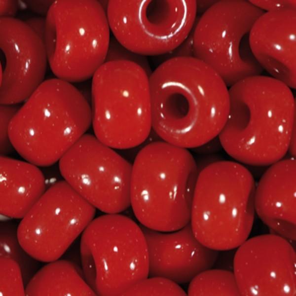 Rocailles satt glänzend 4,5mm 17g rot Glas, Lochgr. ca. 1mm