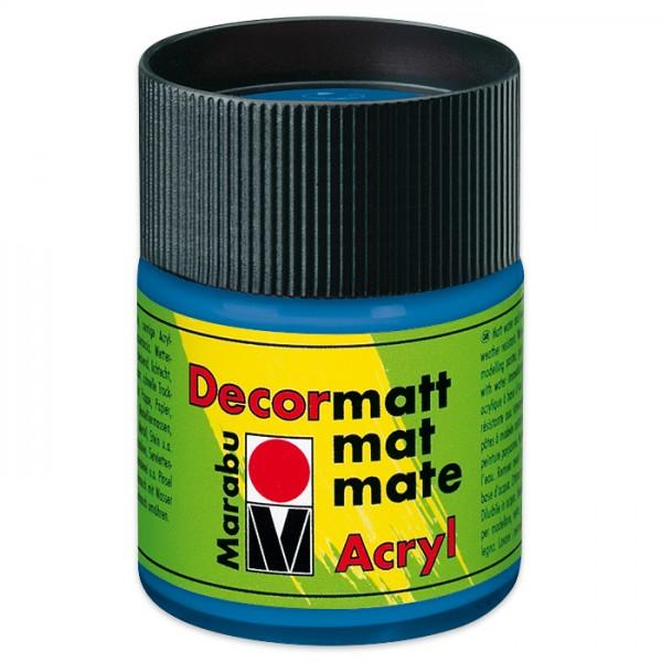 Decorlack Acryl matt 50ml azurblau