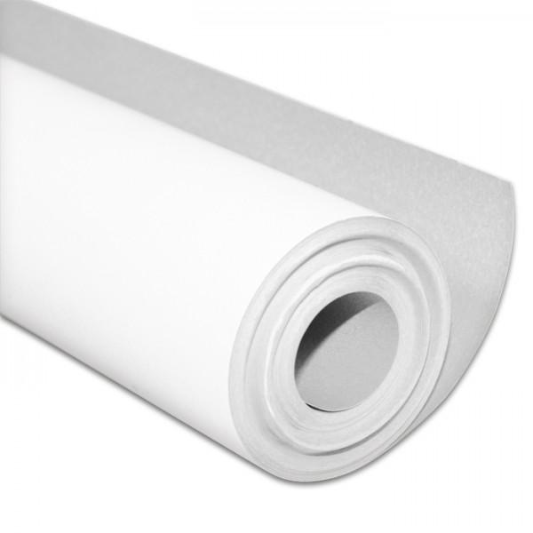 Malpapier unbedruckt 50cm 10m Rolle 120g/m², wasserabweisend, Rückseite blau