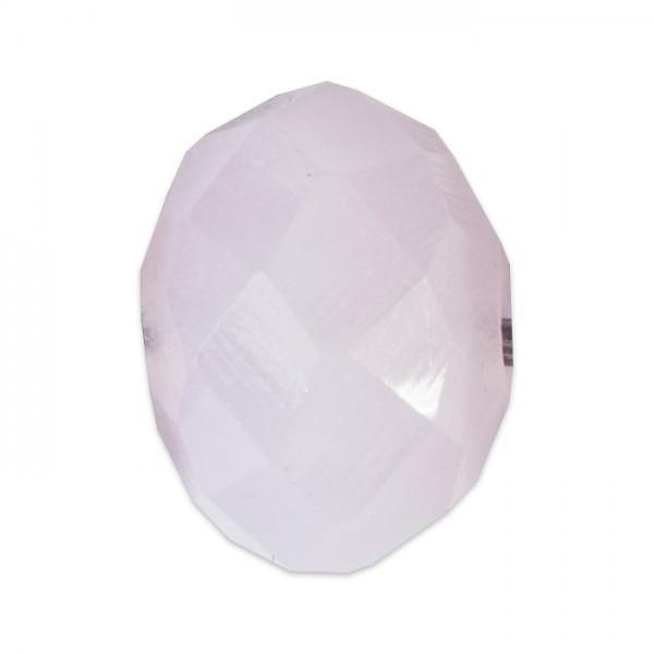Facettenschliffperlen 8mm 20 St. hellrosa pastellfarben, feuerpoliert, Glas, Lochgr. ca. 1mm