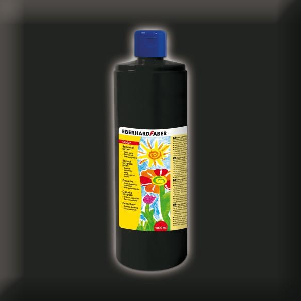 Color-Schulmalfarbe 1.000ml schwarz