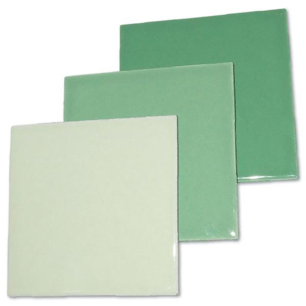 Fliesen 100x100x4mm 3er-Set grün-mix