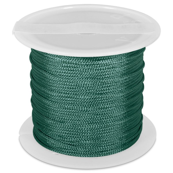 Knüpfgarn glänzend 1mm 5m dunkelgrün 100% Polyester