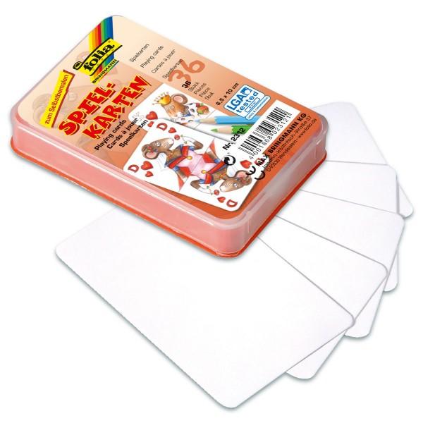 Blanko-Spielkarten 6,5x10cm 36 St. weiß