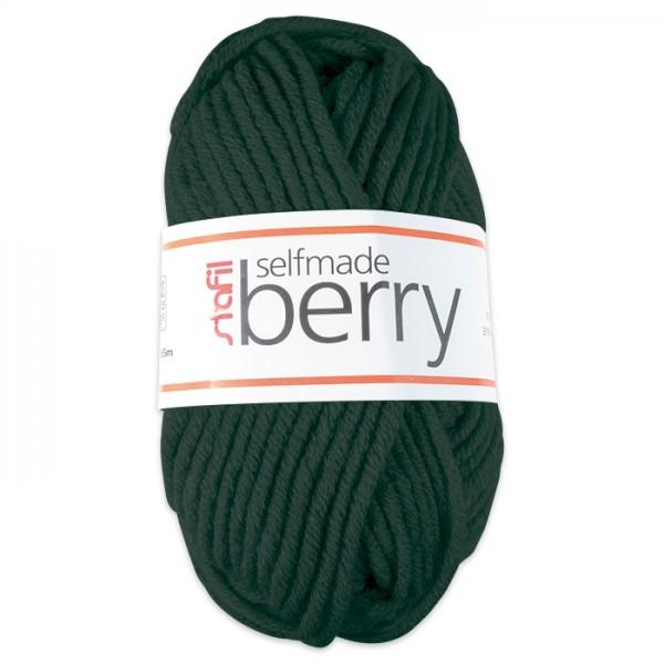 Wolle Berry 6-7mm 50g dunkelgrün 70% Polyacryl, 30% Wolle