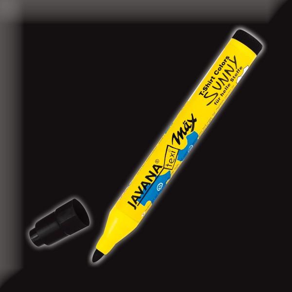 Texi-Mäx Sunny Stoffmalstift schwarz Strichbreite 2-4mm