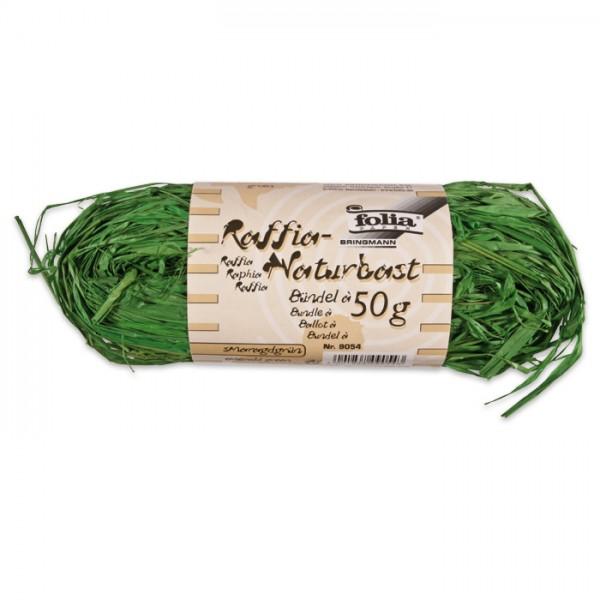 Naturbast Bündel 50g smaragdgrün