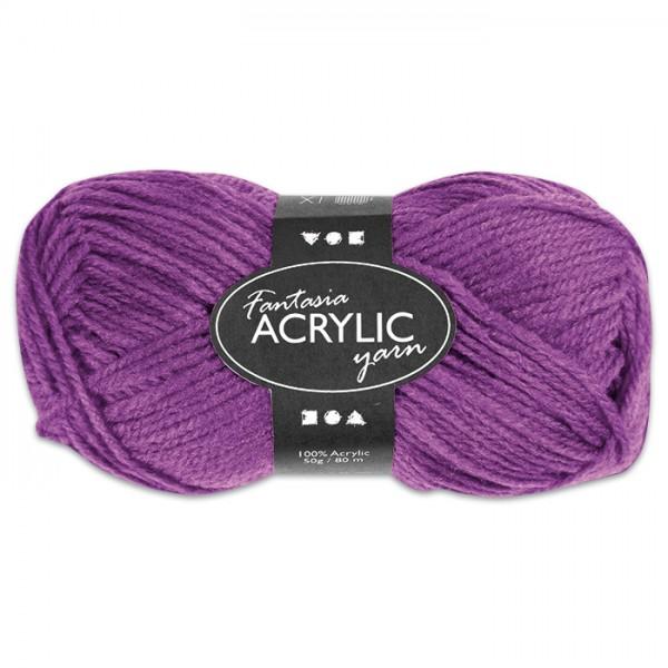 Fantasia Acryl-Wolle 50g lila 100% Polyacryl, für Nadel Nr. 4