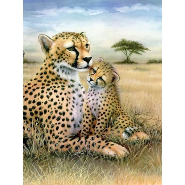 Malen nach Zahlen 22,2x29,8cm Leopard