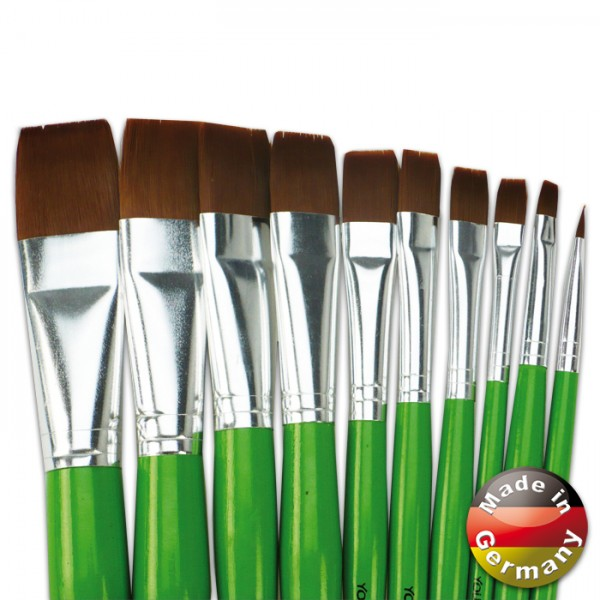 Pinsel Ponex-Synthetikhaar flach Gr. 10 Young Art Schul-Malpinsel