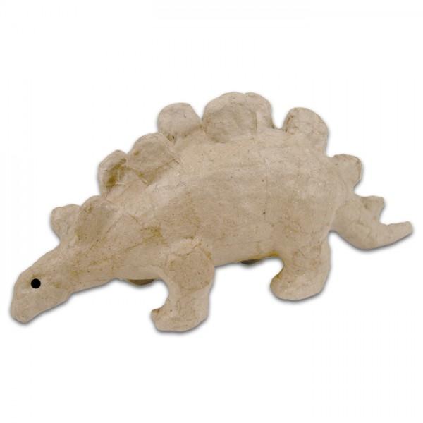 Stegosaurus Pappmaché 6x18x8cm Größe XS, von Décopatch