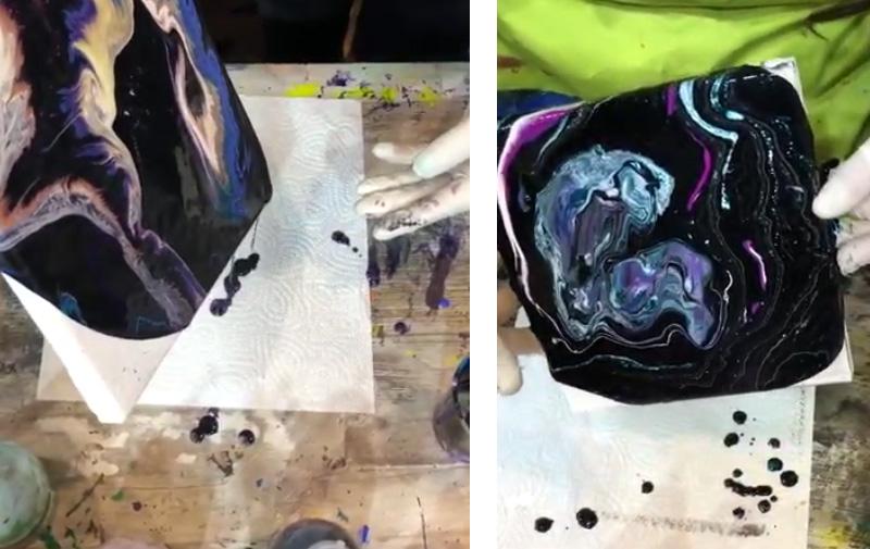 "Video ""Just4Art"" Silikon Pouring Farbe von Molax"