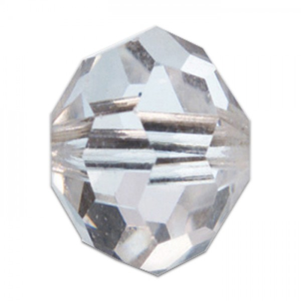 Facettenschliffperlen 8mm 20 St. cristall transparent, feuerpoliert, Glas, Lochgr. ca. 1mm