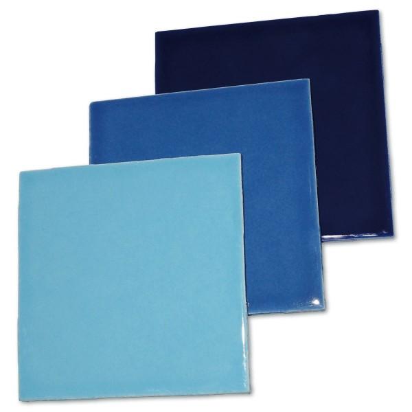 Fliesen 100x100x4mm 3er-Set blau-mix