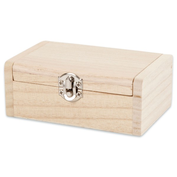 Schmuckkästchen Holz 11,5x7,5x4,5cm mit Metallverschluss