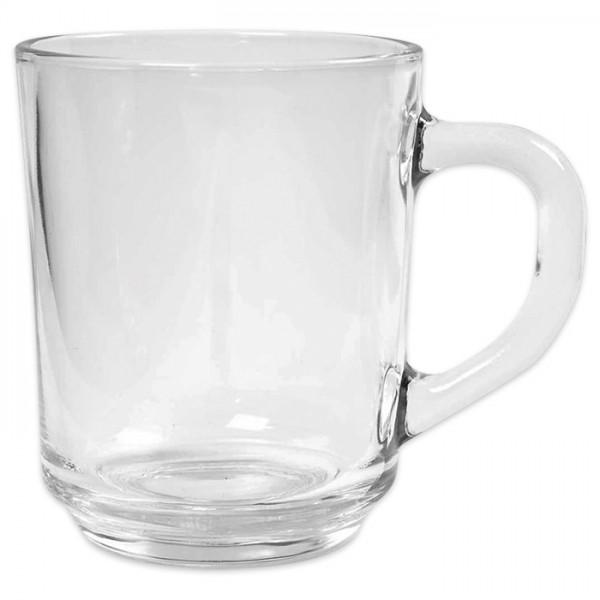 Glasbecher mit Henkel Ø7,3x9,2cm