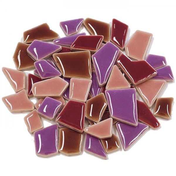 Flip-Keramik Mini 200g ca. 160 Steine lila mix 5-20mm, ca. 4mm