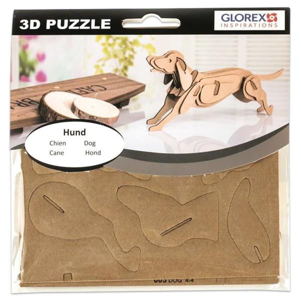 3D-Puzzle Pappe Hund natur ca. 17x16,6x1cm
